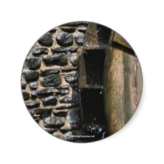 Water Wheel Nature Photo Sticker