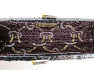 Kotur Black Snakeskin Clutch Bullet Clasp at Socialite Auctions 10 14