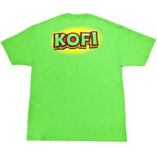 Kofi Kingston Boom Lime Green WWE T Shirt New