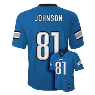 Calvin Johnson Detroit Lions Kids Boys NFL Youth Jersey Medium Large x