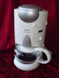 KRUPS FRESH AROMA F625 10 CUP STYLISH COFFEE MAKER + ACCESSORIES