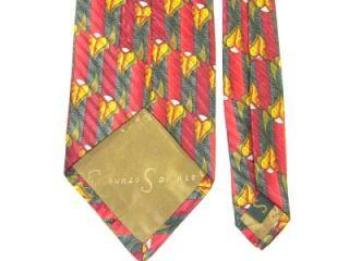 Studio Red Gray Yellow Green Art Deco Wide Silk Necktie Tie KS19