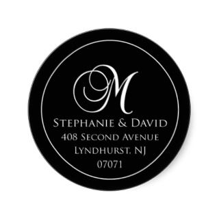 Stephanie Address Label 2 Round Sticker