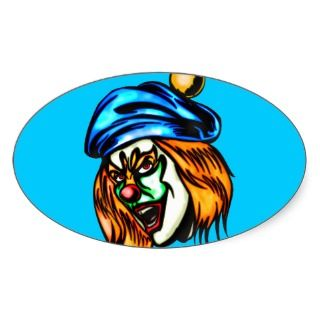 Mean Evil Clown Sticker