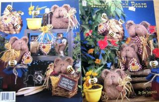 QUILTING honey BUNCH teddy bears dolls kunin plush felt PRIMITIVE