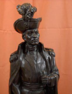 Dominique Toussaint   LOuverture Bronze Statue Sculpture Haitian