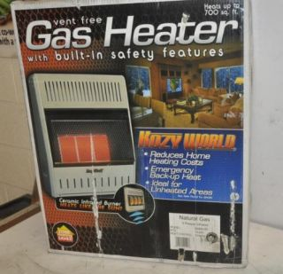 Kozy World KWN191 Vent Free Natural Gas Heater
