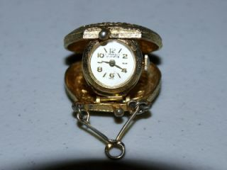 RARE Antique Gold La Marque 17 Jewel Swiss Pendant Watch,