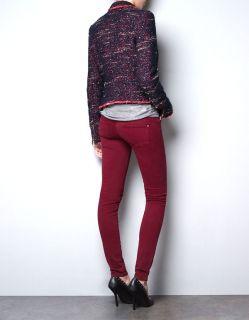 Zara Zip Stud Detail Tweed Blazer New 2012 Size XL UK 12
