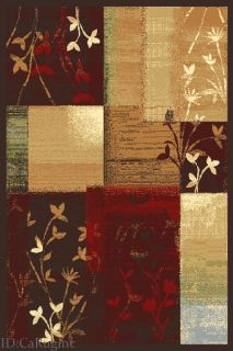 5x7 Area Rug Abstract Contemporary Modern Design Floral Size 5x73