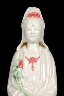Porcelain Kwan Yin Drip Fountain Statue Water Guan 16