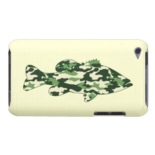 Green Camo Bass Fishing Barely There iPod Case