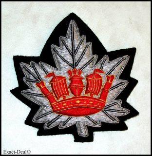 Canada Army Royal Canadian Navy RCN Blazer Hand Embroidered Badge
