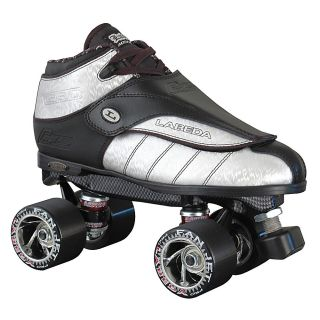 Labeda G 80 Silver Mens Speed Quad Roller Skates Size 9 0 Silver New
