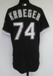 2009 Chicago White Sox Josh Kroeger #74 Game Used Black Alternate