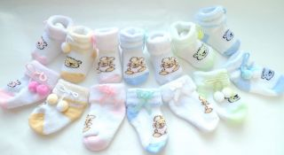 Pairs Baby Booties Bear Rabbit Socks 0 to 6M New