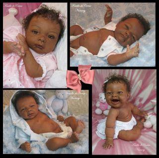 doll AA ethnic baby boy kit Amy Olga Auer by Feuille de Cerise Nursery