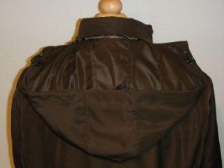 New $350 Thomas Dean Brown Warm Lined Car Coat Jacket L