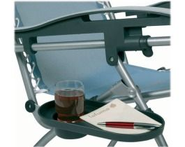 Cup Holder with Tray for Lafuma Recliners Dark Grey Color