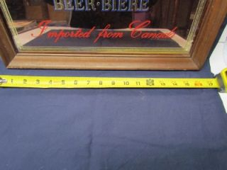 Vintage LABATTS Beer Bar Mirror Sign  14 x 17 w/ Wood Frame