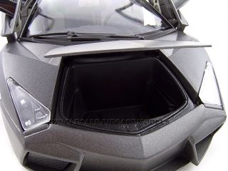 Lamborghini Reventon Flat Black 1 18 Diecast Model Car