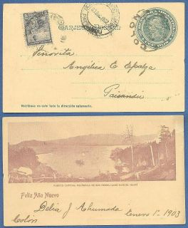 Picture PS Uprated 1902 to Uruguay National Park Lake Mountain view