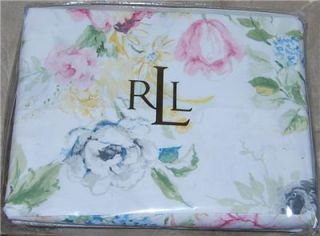 Ralph Lauren Home Lake Floral Queen Sheet Set New 1st