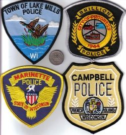 Wisconsin Police Department Patch Lake Mills Wi Ducks