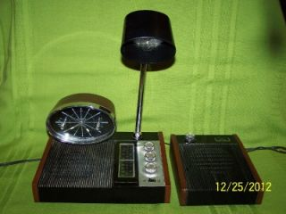 WITTNAUER LONGINES SYMPHONETTE CLOCK RADIO LAMP w/ SATELLITE SPEAKER