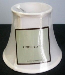 Pair of Restoration Hardware White Bell Lamp Shade Size A Sconce