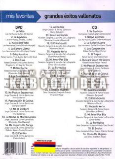 DVD CD Grandes Vallenatos Los Hermanos Zuleta Jorge Celedon Silvestre