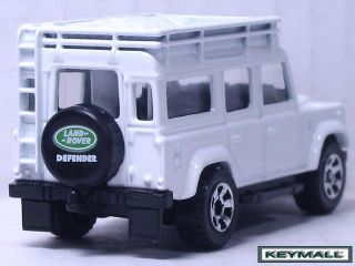 VERY RARE MATCHBOX WHITE LAND ROVER DEFENDER 110 MB #55 UK SUV LEGEND