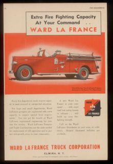 1949 Boston FD Ward LaFrance Fire Engine Truck Print Ad
