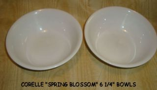 Corelle Cereal or Dessert Bowls 2 Spring Blossom or Crasy Daisy