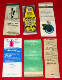 32 Vintage 1940 70s Truck Matchbooks Delivery & Tractor Trailer Semi
