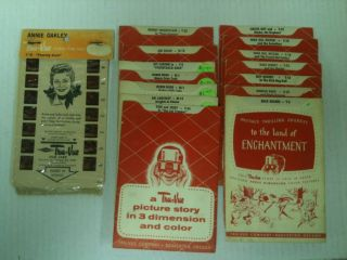 Lot of 15 1950s Tru Vue Stereo Film Cards TV Shows Robin Hood Kit