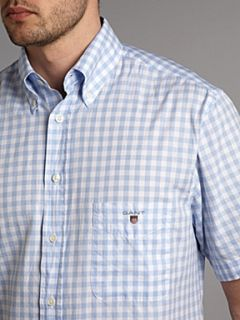 Gant Short Sleeve oxford gingham shirt Blue