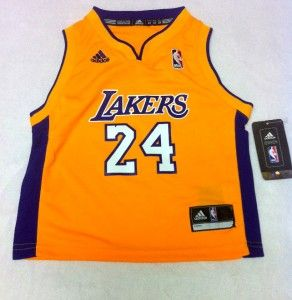 NBA Adidas Los Angeles Lakers Kobe Bryant 24 Gold Toddler Jersey