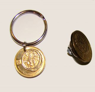 Widows Mite Key Ring Tie Tack Lapel Pin of Modern Israel 5 Agorot