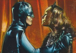 vs Catwoman Original Painted ACEO Sketch Card by Jeff Lafferty