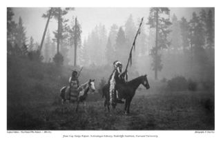 Print Nez Perce Lapwai Indians War Bonnets War Dress Tipis Jane Dodge