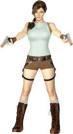 Lara Croft Tomb Raider Fancy Dress Costume Guns 12 14