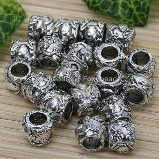 20pc Tibetan Silver Frog Large Hole Beads Fit Bracelet