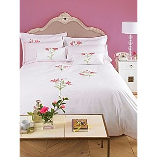 Lucia bed linen pink/white