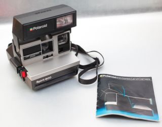 Polaroid Spirit 600 instant Film Land Camera SET +Instruction Manual+
