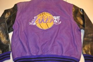 Vtg Wornin Los Angeles Lakers Letterman Lettermen Jacket XL Leather
