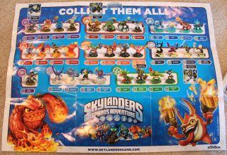 Skylanders Spyros Adventure Full Set of 37 Figures Cards Codes PS3