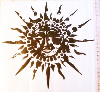 Large Sun Decal Sticker Auto Wall Window Art Decor