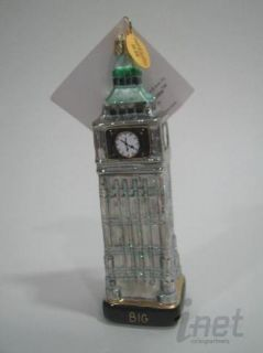 Landmark Creations Big Ben Christmas Ornament Hand Crafted Glass