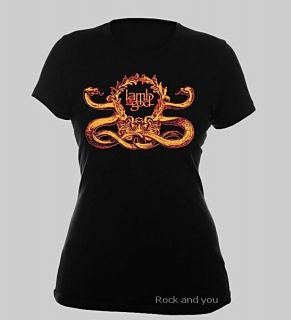 Lamb of God Logo Metal Hard Rock Girls Tee T Shirt XL NWT